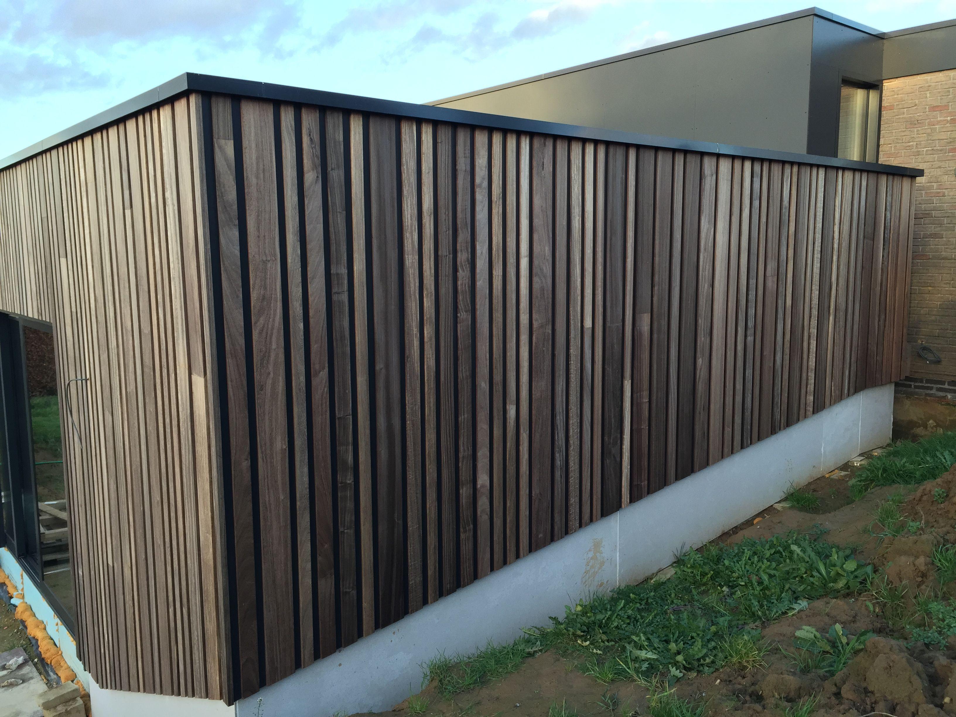 Woodface ® afscherming van terras ontwerp christophe baetens ...