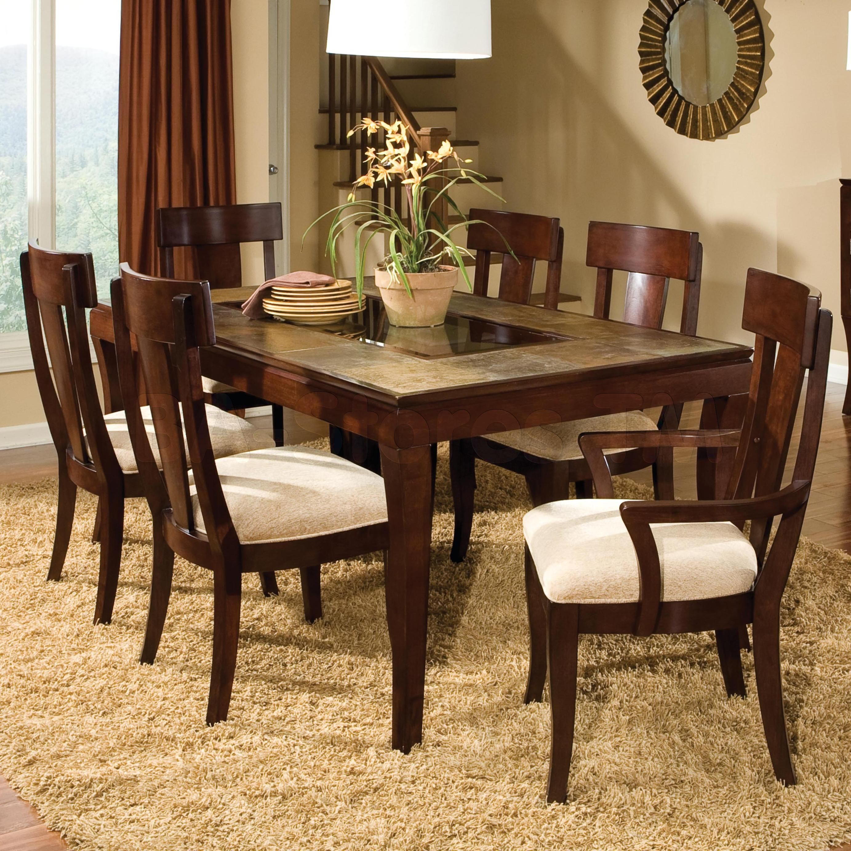 Laguna 7 Pcs Dining Room Set Table 4 Side Chairs And 2 Arm Interesting Dining Room Table And Chairs For 4 Design Inspiration