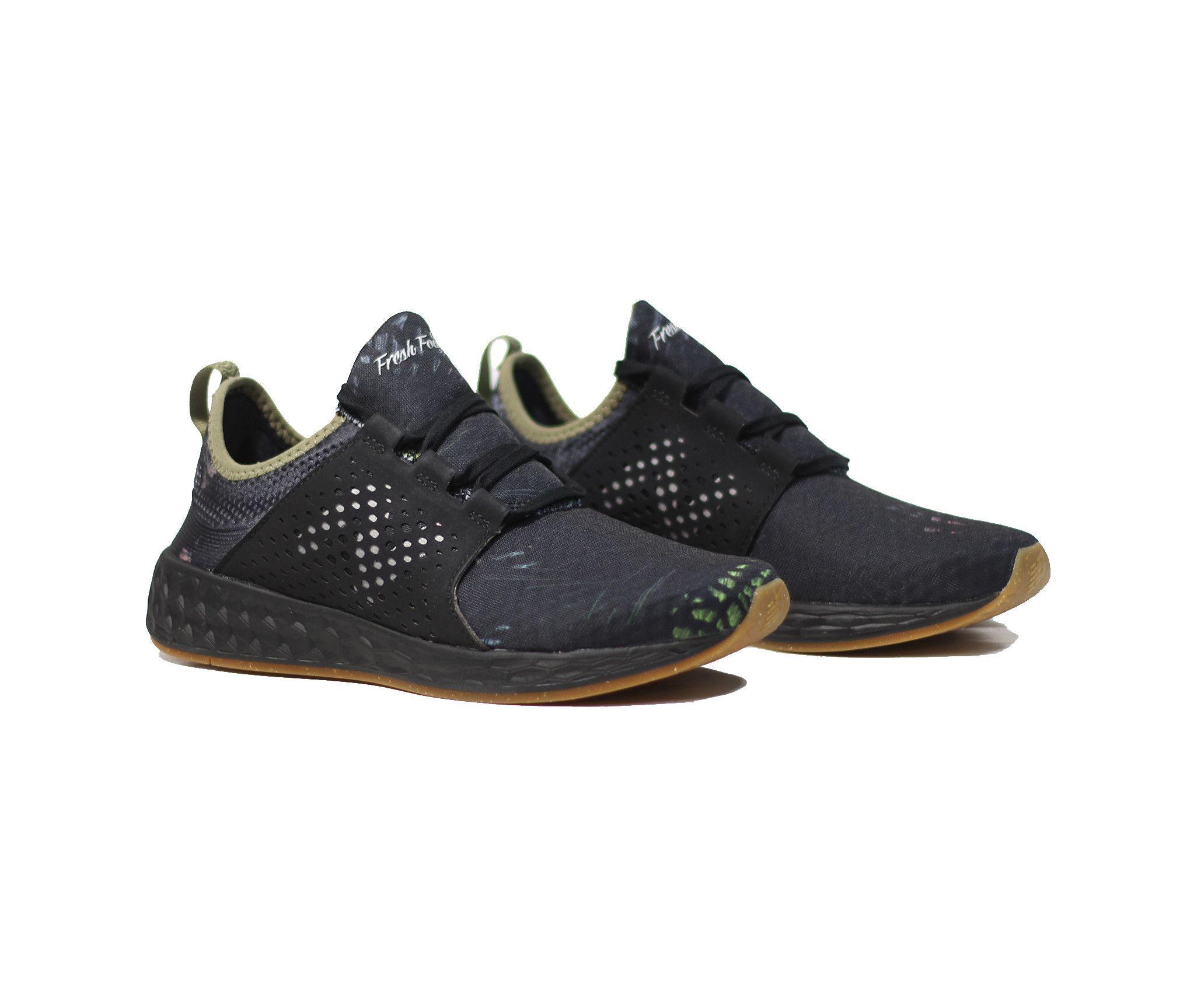 New Balance Fresh Foam Cruz - Black Graphite/Covert Green