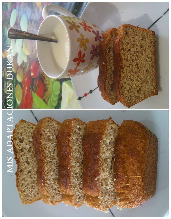 Bizcocho de salvados sin tolerados (con gluten de trigo). Apto desde la fase 1 ataque teniendo en cuenta la cantidad de salvado.