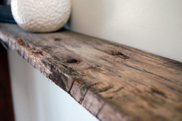 Weathered Wood Shelf Home Goods Decor Hanging Wood Shelves Rustic Floating Shelves