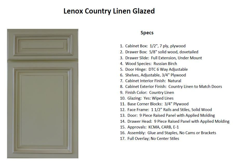 Lenox Country Linen Glazed Cabinet, Country Linen Cabinets