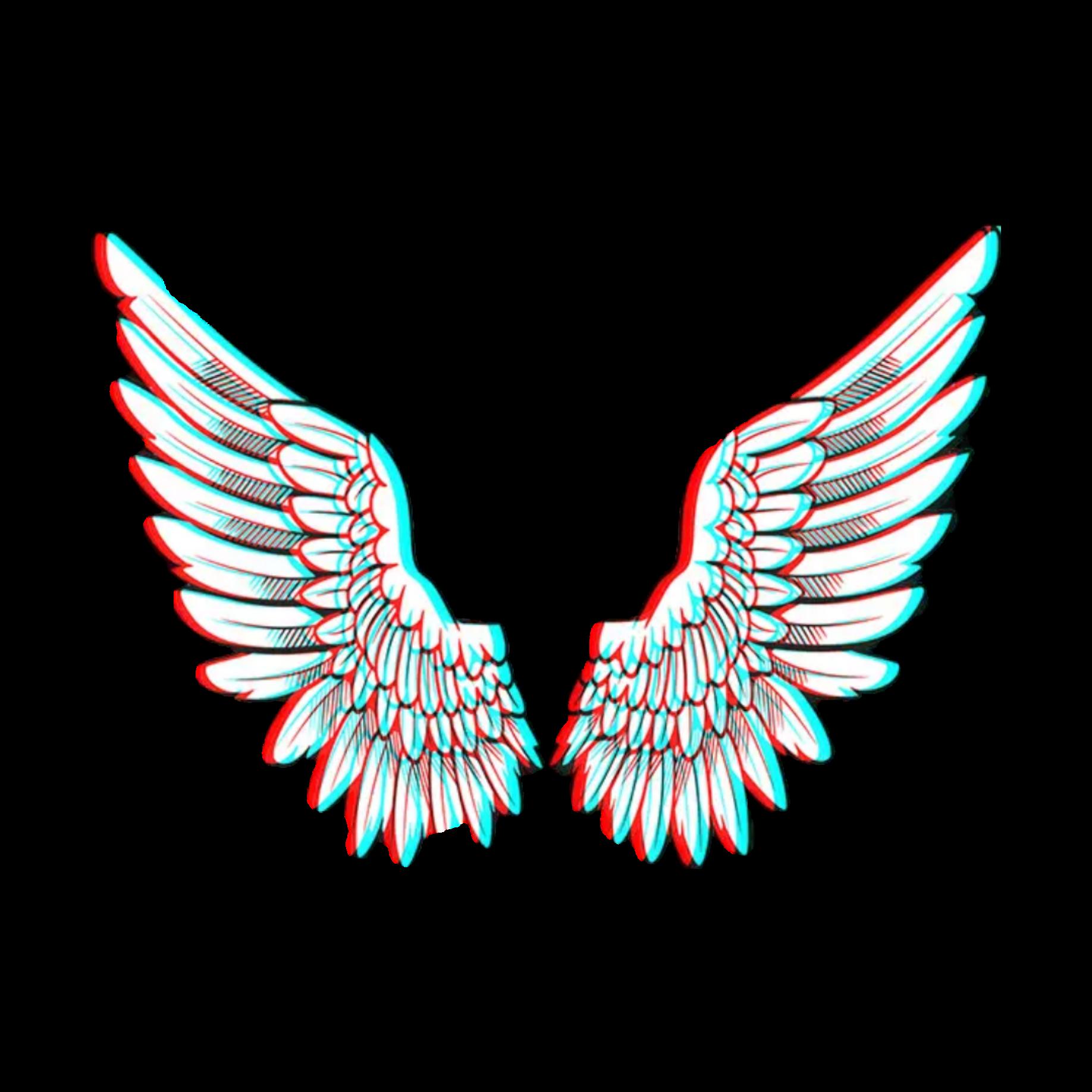 Freetoedit Angel Wings Glitch Remixed From Dudaandr5 Angel Wings Drawing Angel Wing Drawing Tattoo Wings Wallpaper