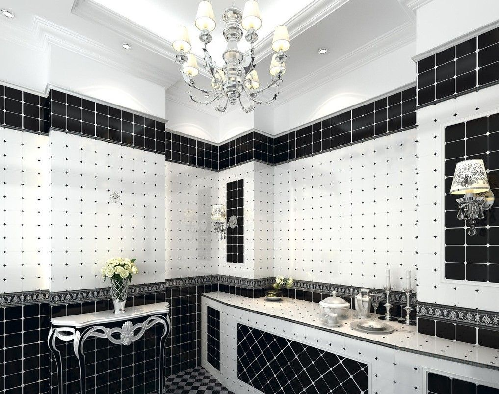 Black White Tiling That Will Wow You Black And White Tiles Bathroom White Bathroom Decor Black White Bathrooms