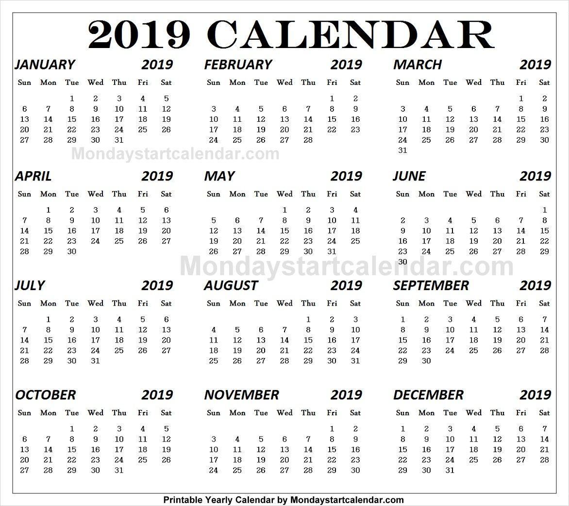 English 2019 Calendar 2019 Calendar School Holiday Calendar