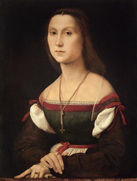 Kunstdruck Alte Meister La Donna Velata Raffael