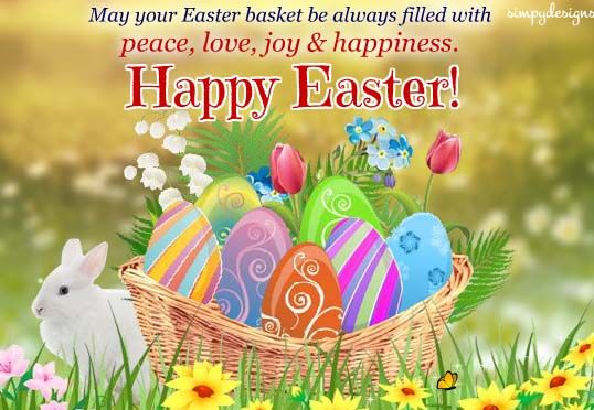 Basket Full Of Wishes On Easter Happy Easter Happy Easter Pictures Inspiration Happy Easter Wishes
