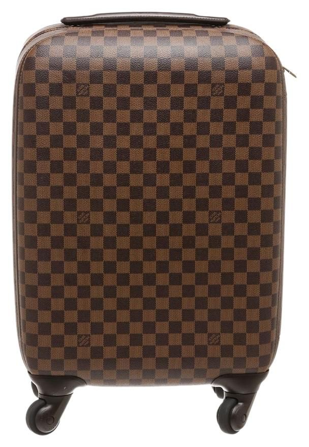 3b53dc3d190e Zephyr Damier Ebene 55 Rolling Suitcase Brown Coated Canvas Weekend ...