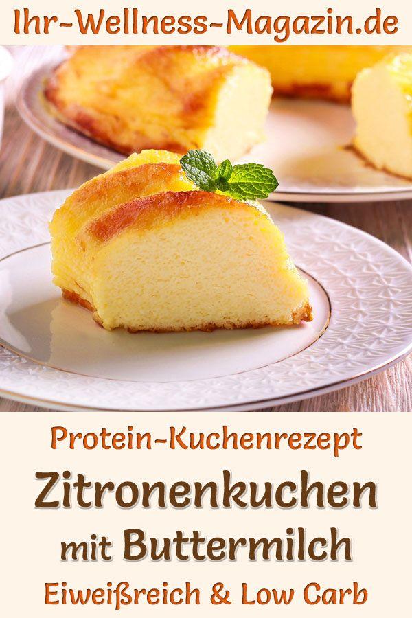 Oster-Kuchen backen: Protein-Zitronenkuchen mit Buttermilch – eiweißreiches Low-Carb-Rezept