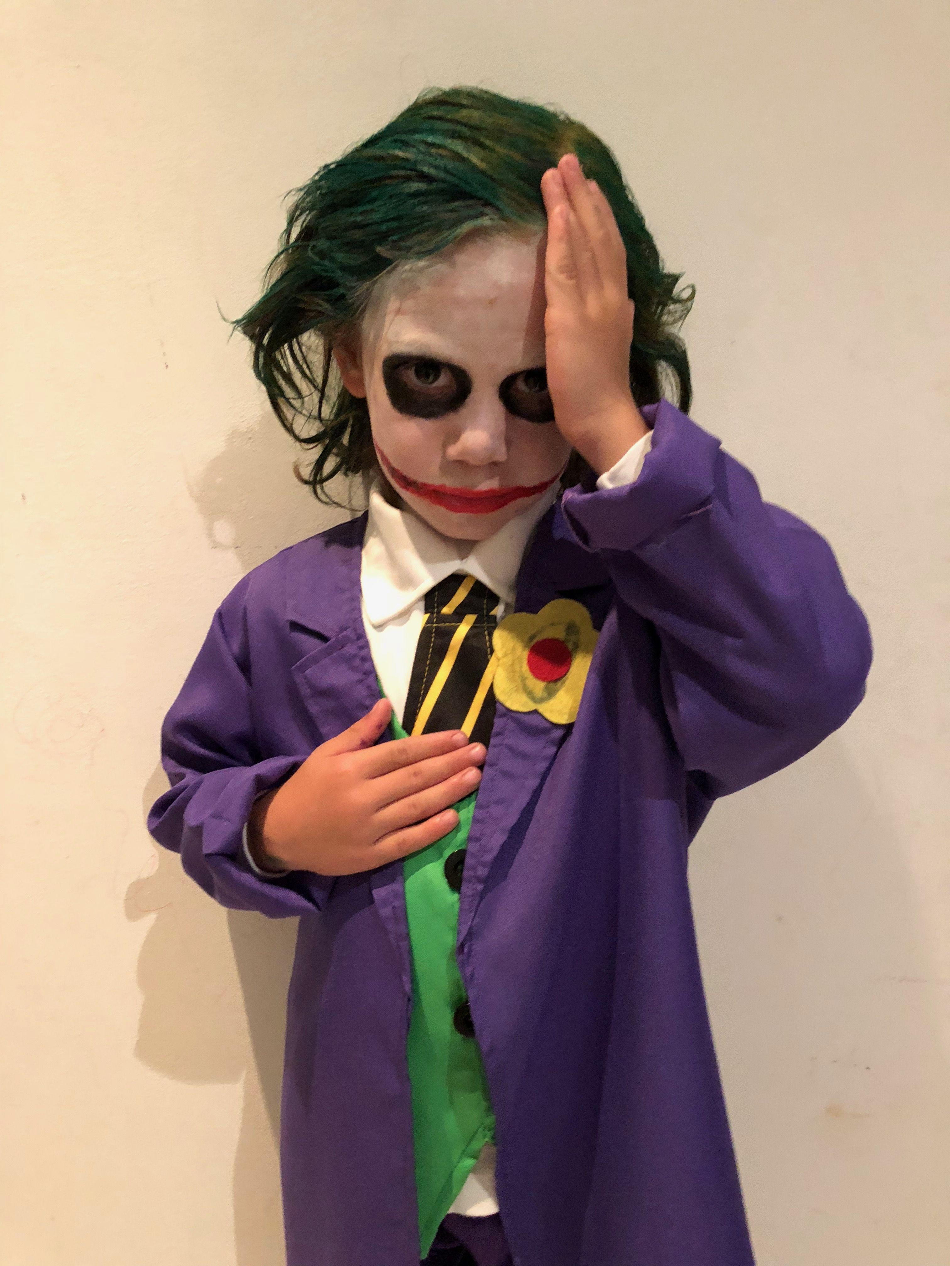 Disfraz joker ni o ni os en 2019 disfraz de joker para - Disfraz joker casero ...