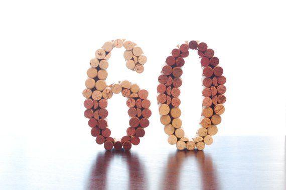 Wine Cork Number, Upcycled Wine Cork Numbers (wedding