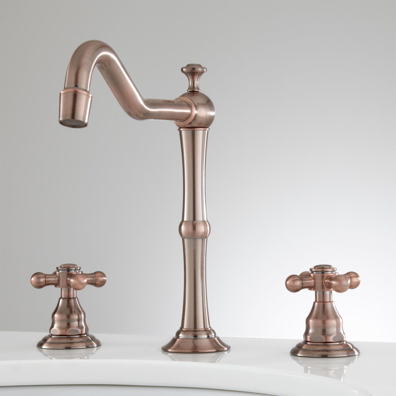 Mabel Widespread Bathroom Faucet - Cross Handles - No Overflow ...