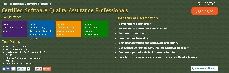 Certification in Software Quality Assurance | SQA Certification ...