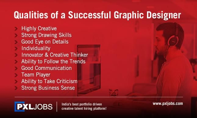 Pxljobs Successfulgraphicdesigner Qualities Of A Successful Graphic Designer Www Pxljobs Com Writer Career Good Communication Marketing Jobs