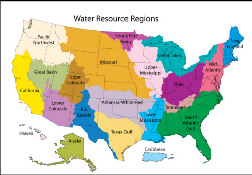 Water resource regions United StatesMore watershed maps The