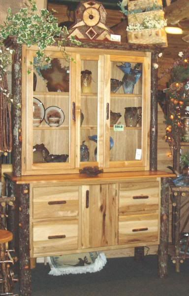 log rustic furniture amish. Rustic Dining Hutch | Details About Amish Hickory Log Cabin Furniture . E