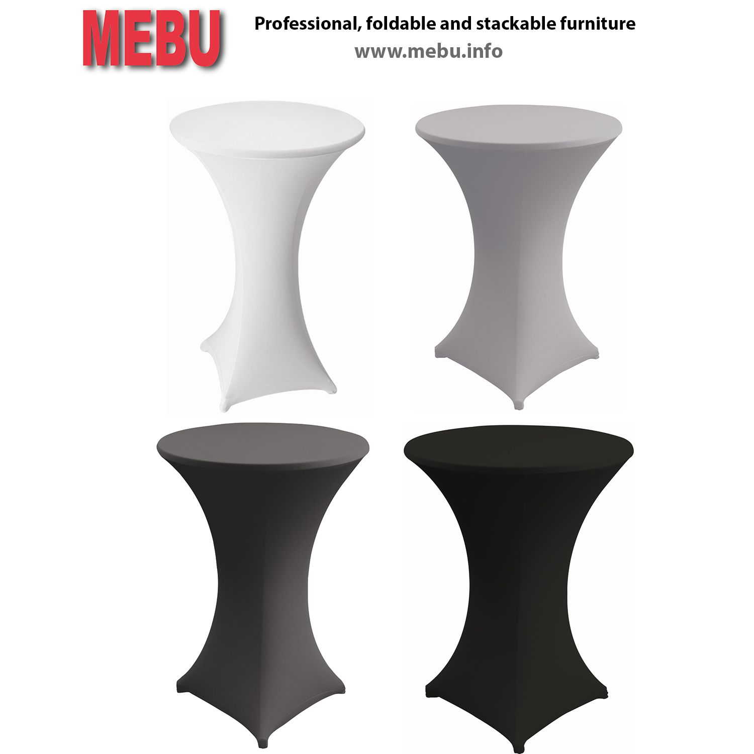 Hussen Stehtische White Grey And Black Party Table Covers In Different Colours And