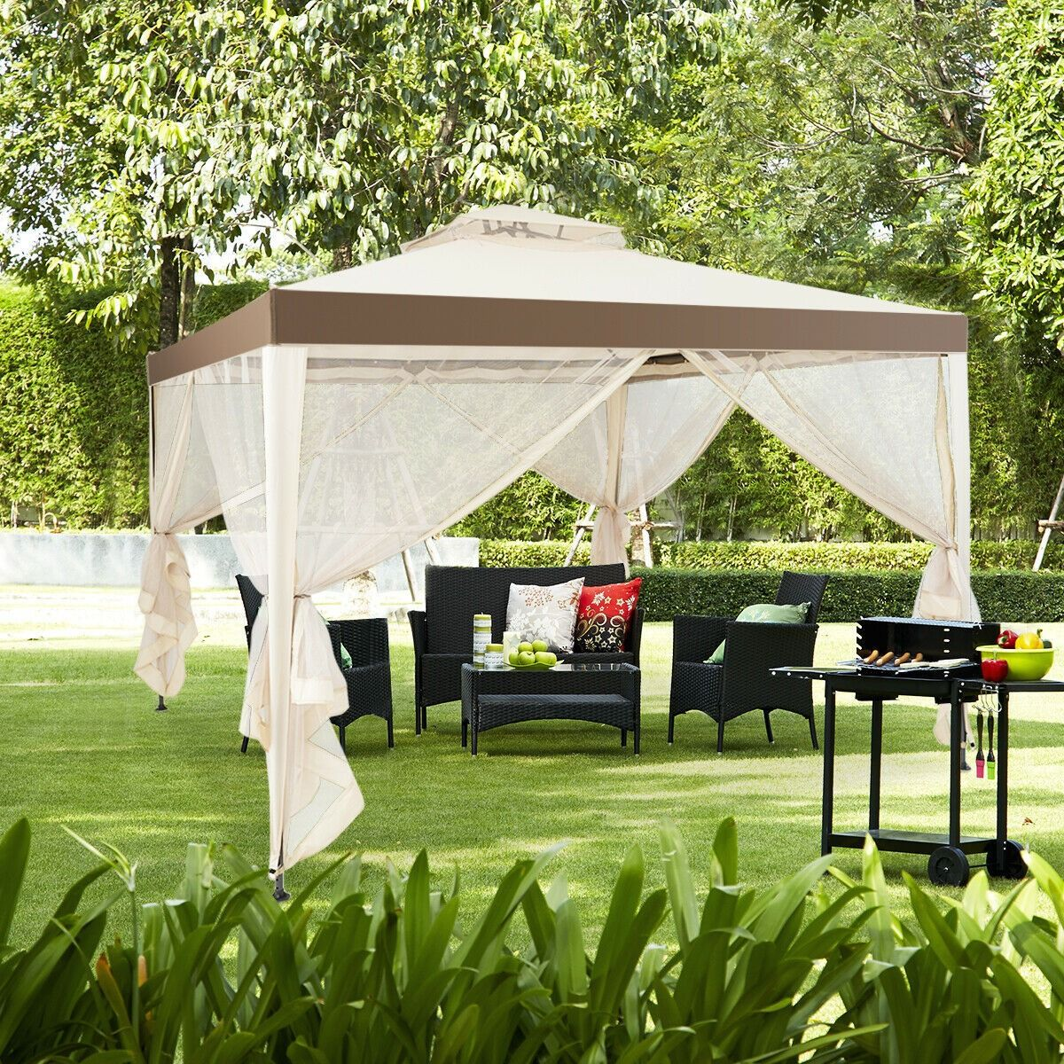 Canopy Gazebo Tent Shelter Garden Lawn Patio With Mosquito Netting Patio Gazebo Gazebo Tent Gazebo