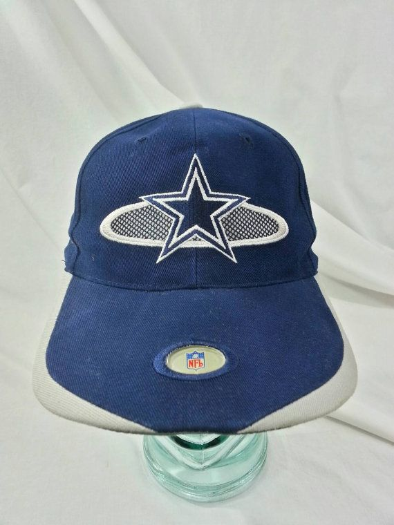 ... on feet at 0fb4b e82ea Vintage 90s Dallas Cowboys Velcro Back by Sports  Specialties. b0f8f409d