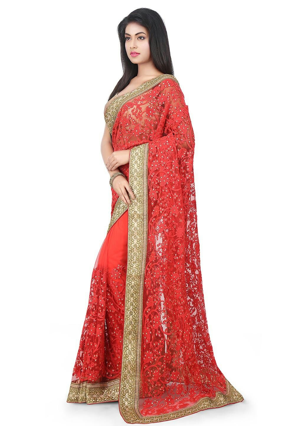 Sari wedding dress  Pin by Shashi Kamal Chakraborty on Saree Beauties  Pinterest  Saree