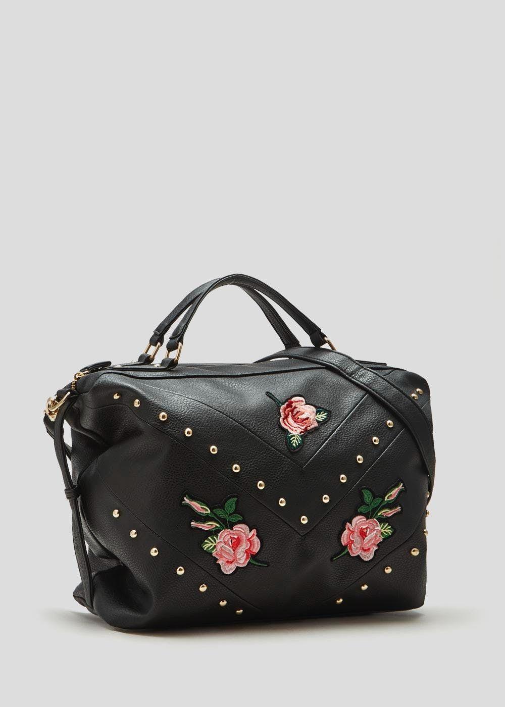821d093187 Appliqué Rose Stud Weekend Bag – Matalan | Weekend bags, Mary ...