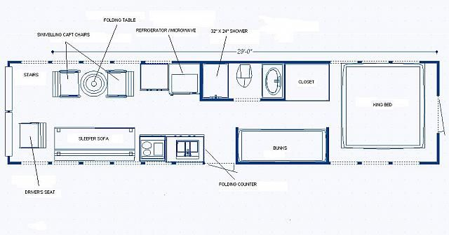 Not A Bad Layout Add A Pantry Next To Sink School Bus