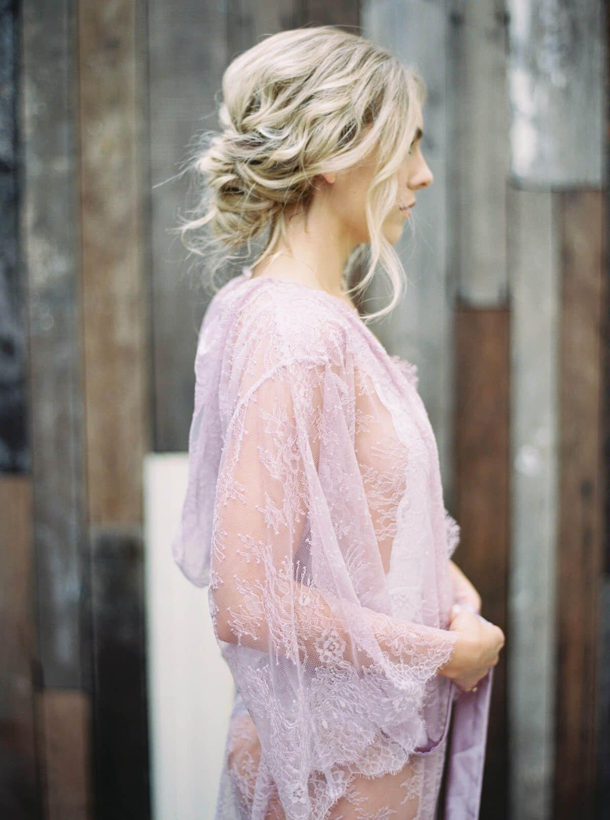 e1b7d703a Rihanna boudoir hooded french lace robe kimono style