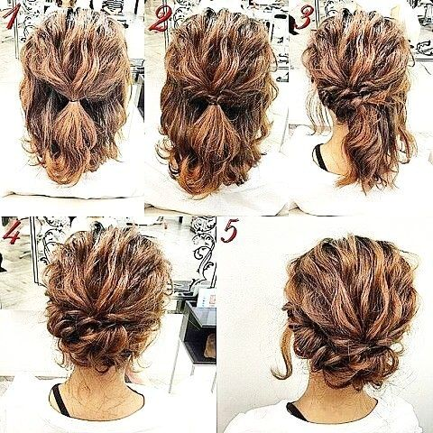 Hair Inspo One Of My Fave Looks Because It Is So Easy Bit Of Salt Spray After Wetting It Tie It In A Half P Simple Prom Hair Hair Styles Short