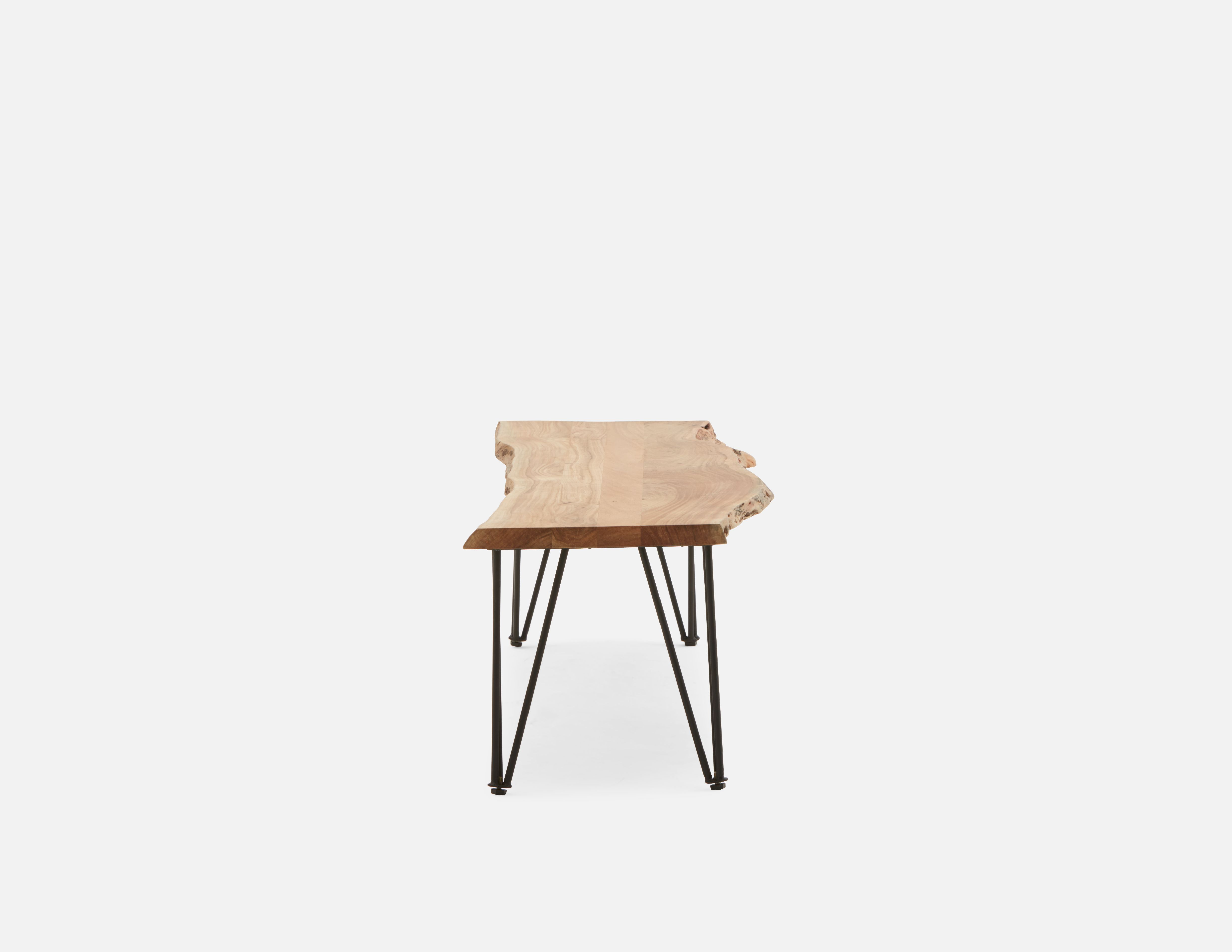 Solid Acacia Wood Bench Struc