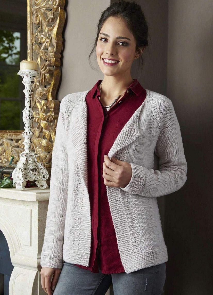 Пуловер спицами реглан с узорными рукавами Самые красивые узоры спицами