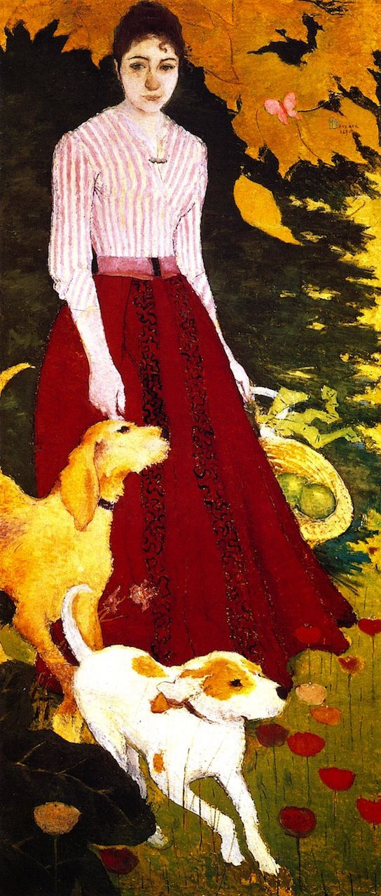 'Andrée Bonnard with her Dogs' by Pierre Bonnard, 1890