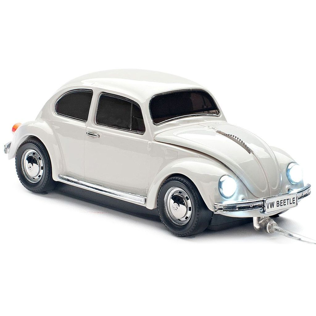Good VW Beetle Car Wired Computer Mouse Grey