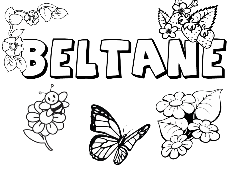 beltane collection  little pagan acorns  coloring pages