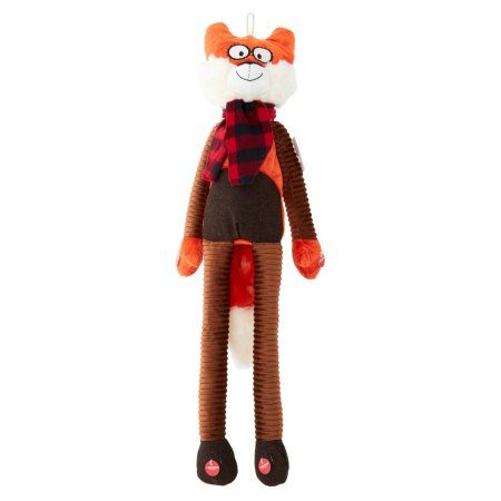 Holiday Time Hd Long Body Fox Pet Toy Black Pets Fox Dog