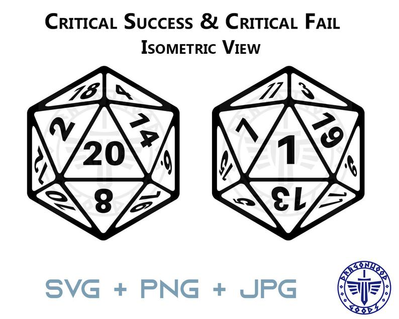 D20 Dice Isometric Svg 20 Sided Dice D D And Pathfinder Rpg Digital Cricut Critical Success Natural 20 And Critical Fail Natural 1 In 2021 20 Sided Dice Isometric Svg
