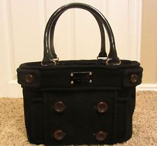 $295 KATE SPADE Beantown Bag Quinn Wool Peacoat Material Tote AMAZING CONDITION