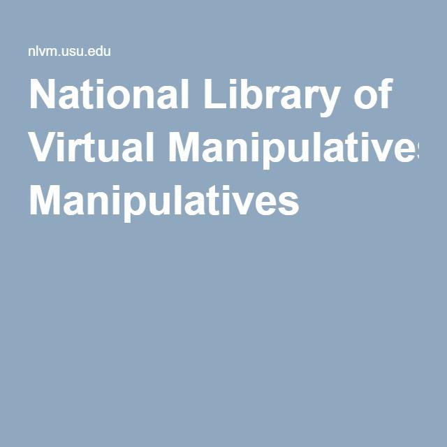 Math Games   National Library of Virtual Manipulatives   Teacher ...