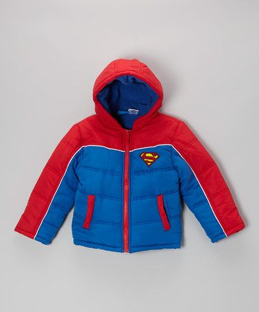 Take a look at this Blue Superman Puffer Coat - Toddler & Boys by Superman on #zulily today!