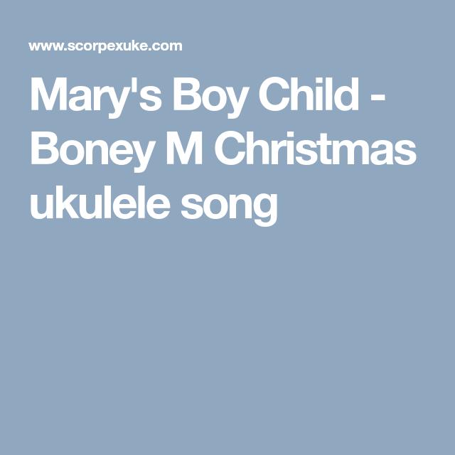 Mary's Boy Child - Boney M Christmas ukulele song