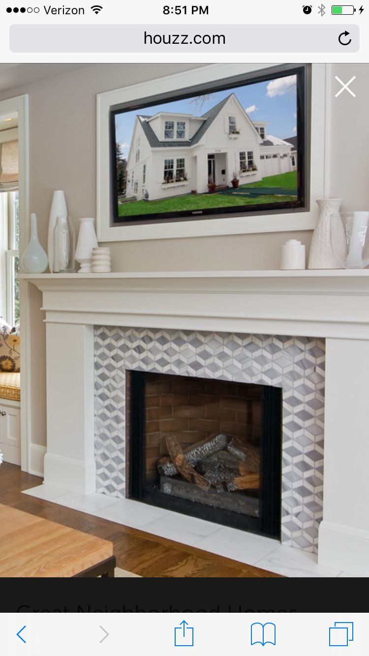 fire place ideas with hearth as white tile smaller home diy rh pinterest co uk