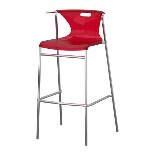 elmer bar stool with backrest ikea a special surface treatment makes rh pinterest com