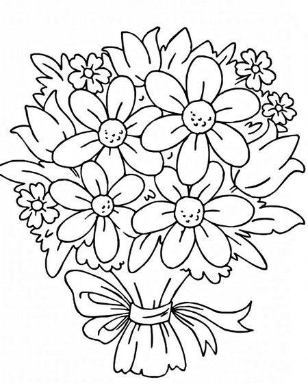 Раскраски цветы. Картинки для детей бесплатно. | Цветочные ...