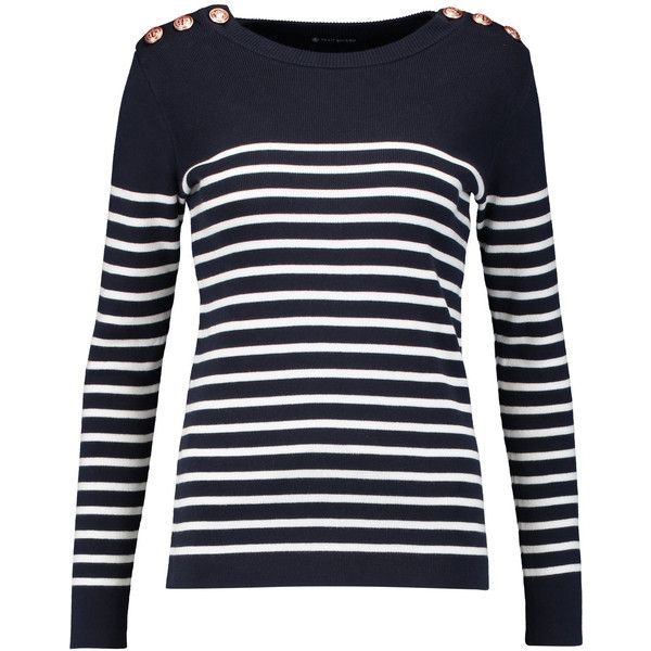 Petit Bateau - Striped Cotton Sweater ($71) ❤ liked on Polyvore ...