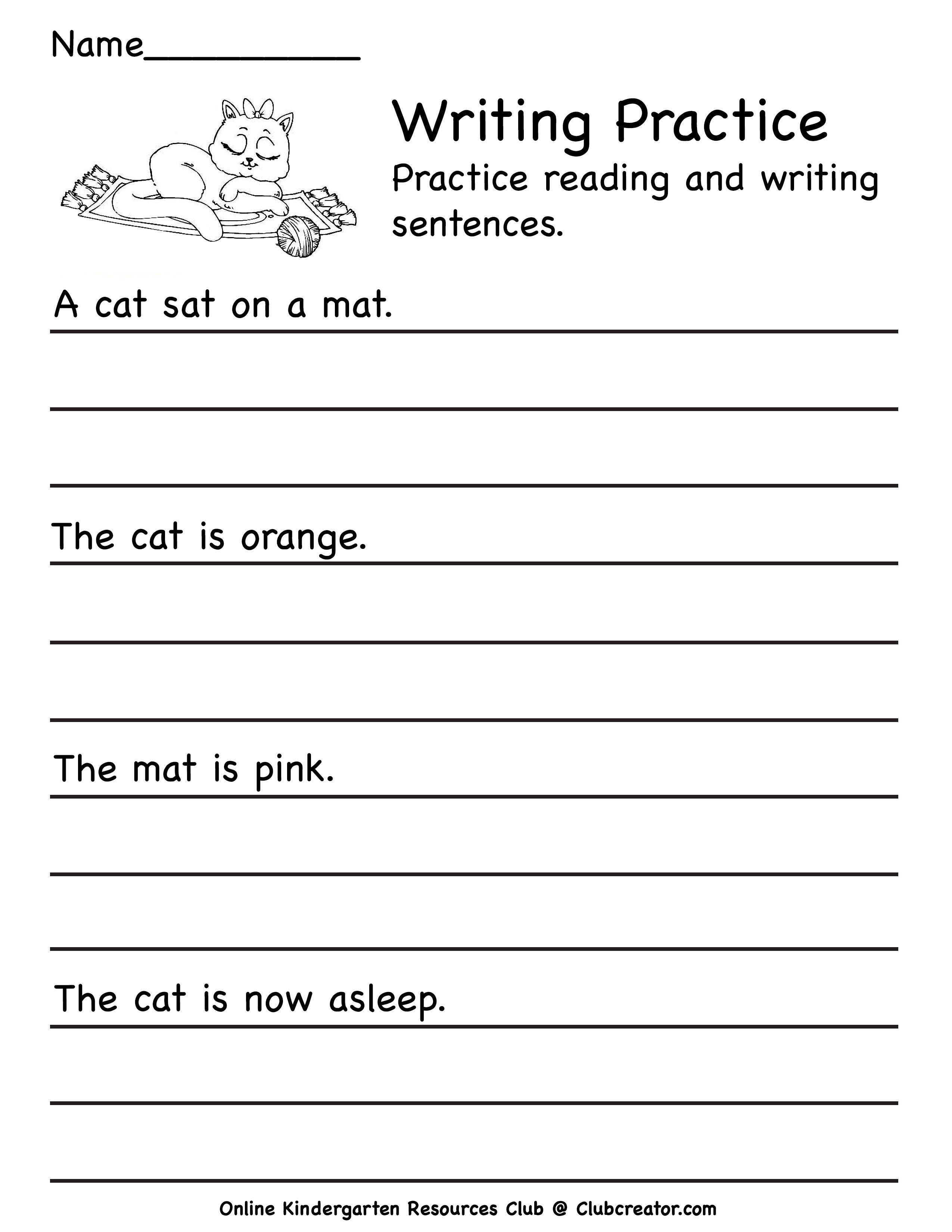 Kindergarten Writing Worksheet Writing Practice Worksheets Online Kindergarten Homeschool Worksheets [ 3300 x 2550 Pixel ]