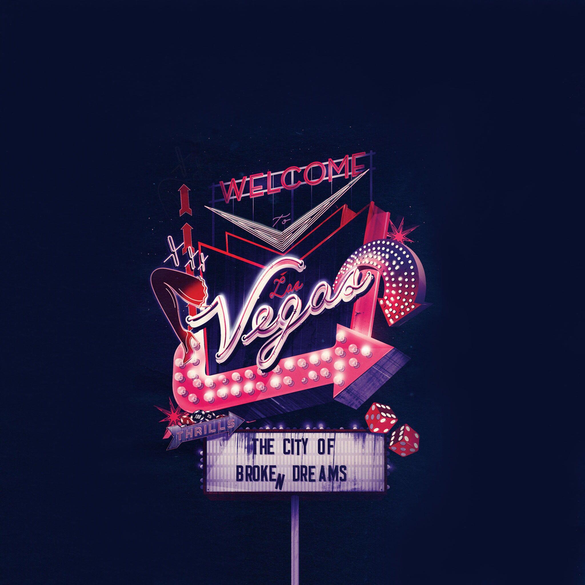 Vintage Las Vegas Wallpaper Quotes Neon Signs Interesting Art