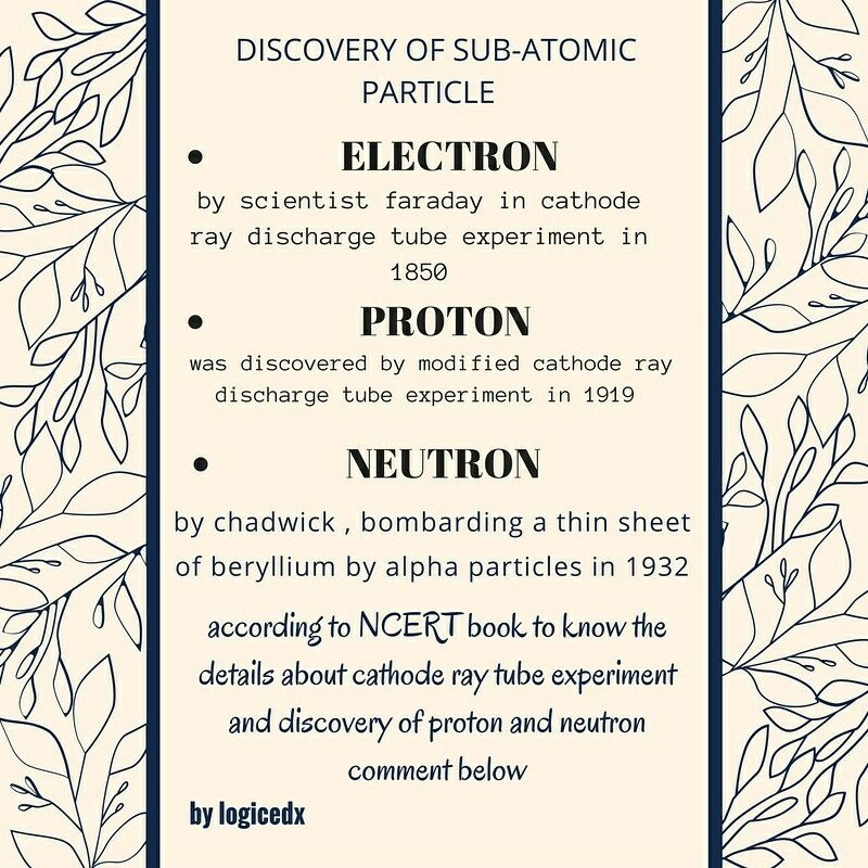 Discovery of sub atomic particles structure of atom – Subatomic Particles Worksheet