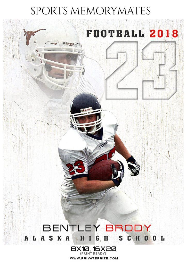 Bentley Brody - Football Memory Mate Photoshop Template | sports ...