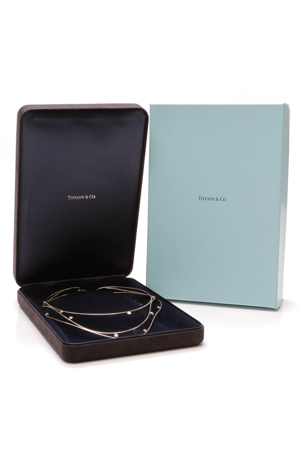db029f0a4a6a5 Elsa Peretti Diamond Wave Necklace - Gold | Timeless Tiffany & Co ...