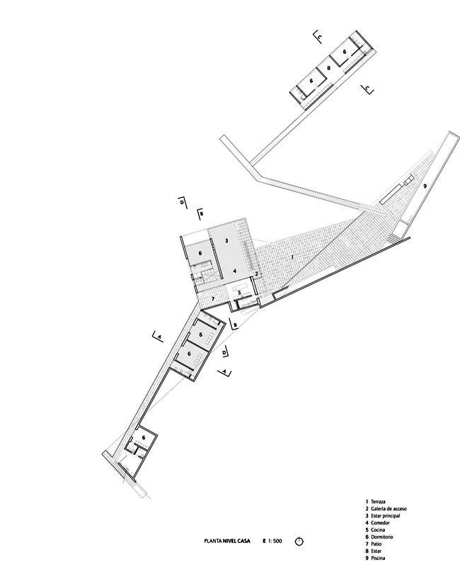 Smiljan radic casa pite chile planimetrie concept for Architettura moderna case