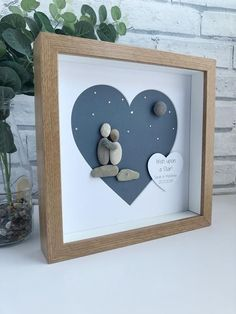 Valentines pebble art, Valentines Pebble Picture,